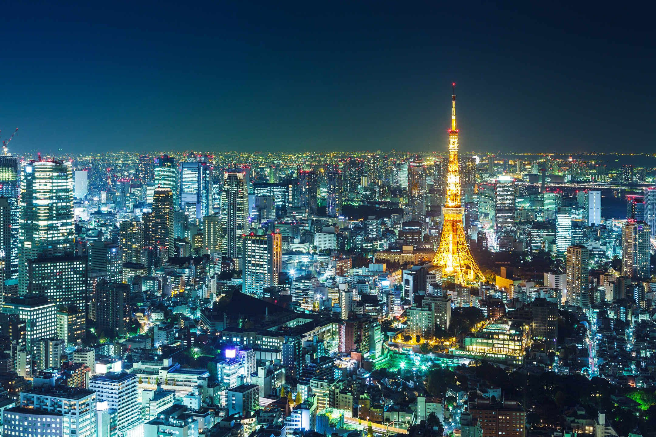 Tokyo Skyline At Night Tokyo Contains Over 100 Universities And Colleges Giving It The World S Highest Concentration Of Higher L Tokyo Skyline Skyline Tokyo
