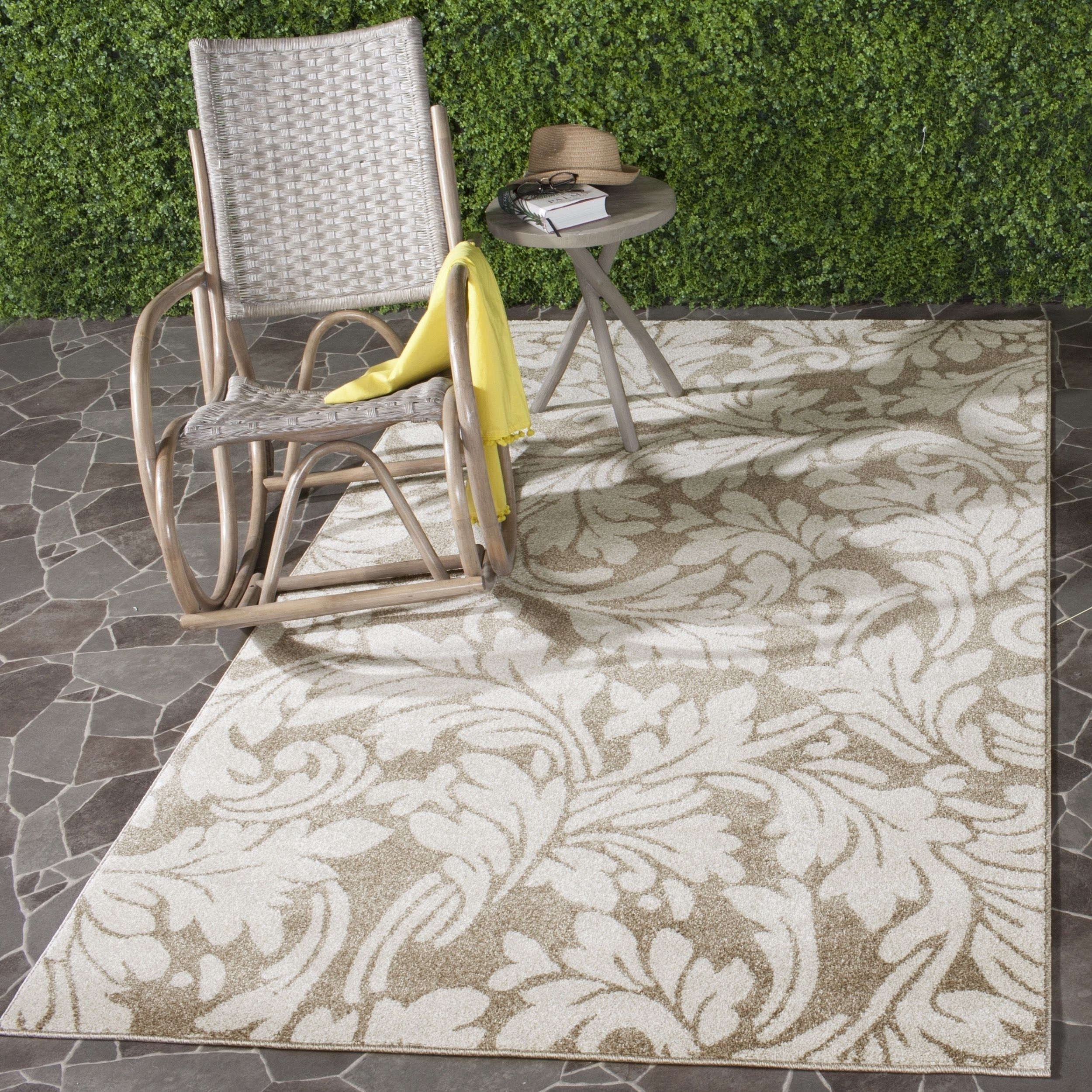 Safavieh Indoor Outdoor Amherst Wheat Beige Rug 9 X 12 Amt425s 9 Natural Size 9 X 12 Polypropylene Geometric Indoor Outdoor Area Rugs Outdoor Area Rugs Patio Rugs