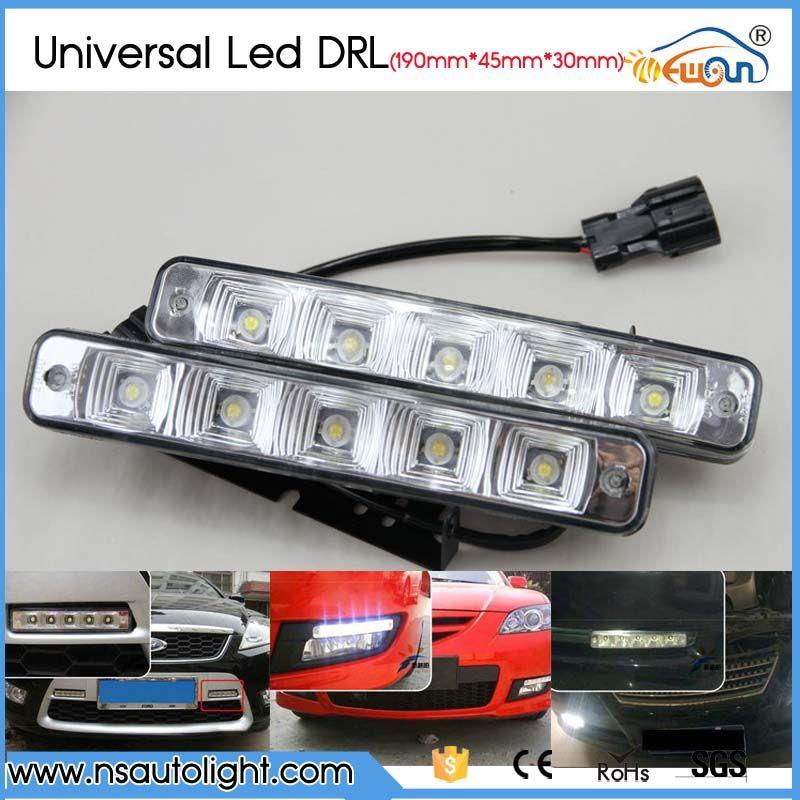 1 Pair 10w Car Daytime Running Lights Drl 5 Led Dc 12v Auto Fog Lamps Turn Braking Signal Indicators Car Styling Car Lights Fog Lamps