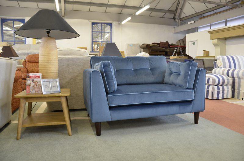 Best Armchairs Blue Velvet Snuggler Chair Retro Design 400 x 300