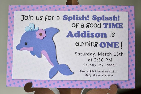 17 Best images about dolphin birthday – Dolphin Birthday Invitations