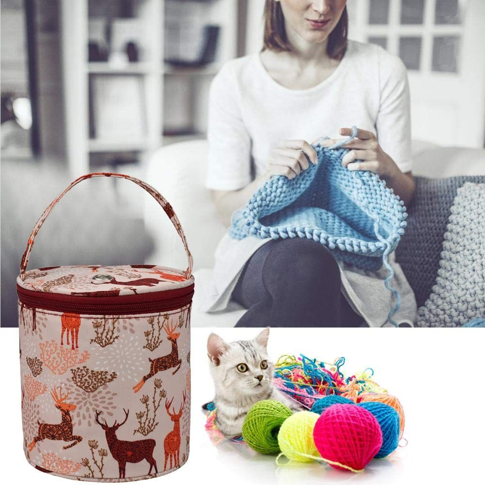 Yarn Wool knitting Storage Tote Bag Crochet Tool Organizer Needles Container
