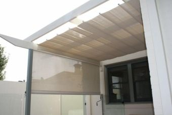 Pleated Patio Awning