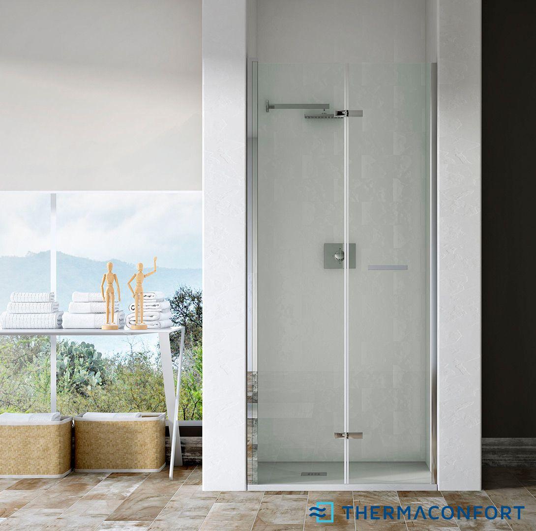 Mampara frontal de ducha plegable aqua mampara duchas y - Mampara plegable ducha ...