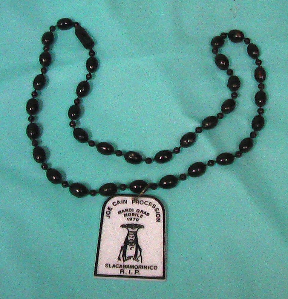 1979 Mobile AL Mardi Gras Necklace Joe Cain Procession Throw Vintage Free Ship
