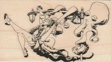 New To Pinkflamingo61 On Etsy Rubber Stamps Stamp Octopus Swing Set By Brian Kesinger Bicycle Wood Unmounted Or Cling Stamp19050 630 USD