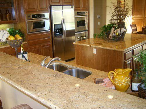 Ivory Gold Granite Tops | Yelp | Kitchen plans, Kitchen design, Home  kitchens