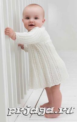 платье для малышки спицами вязание для детей спицами вязание