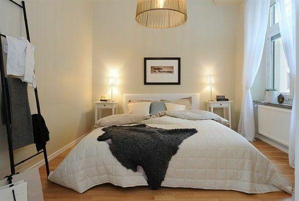 Schlafzimmer Gestalten Im Skandinavischen Stil Bett Mittelpunkt