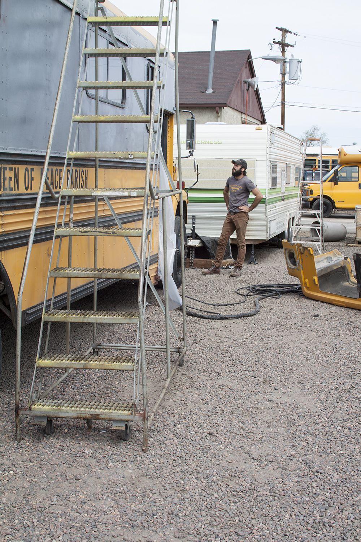 Spray Foam Insulation Bus Conversion Denver Colorado Charles - Dakota tiny house on wheels