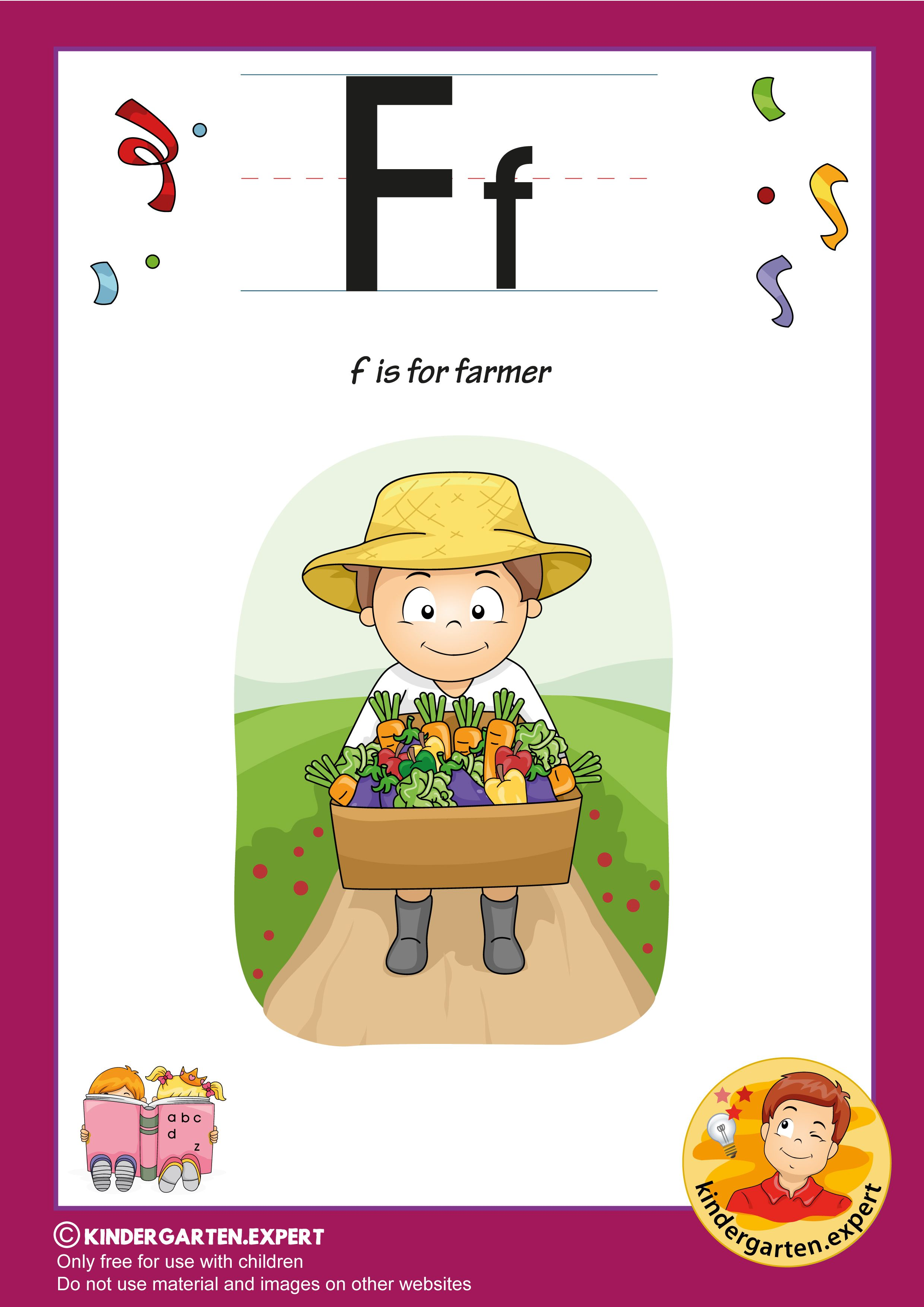 Worksheets Letter F Kindergarten First Grade In