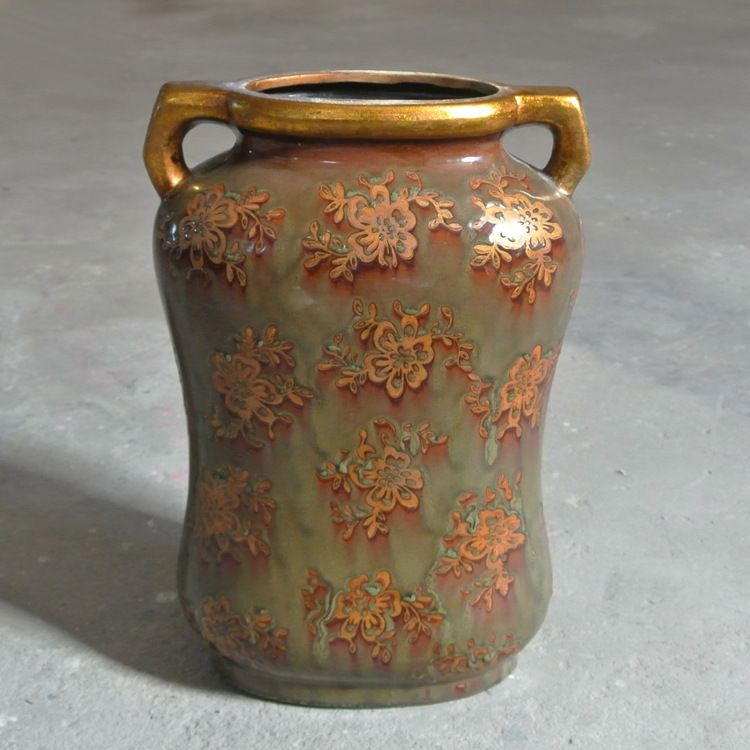 Floer Vase Art Classical Gilt Flower Vase Mouth Unglazed Ceramic
