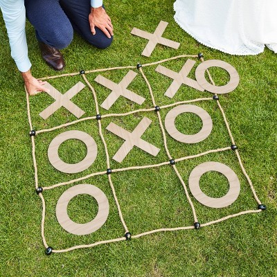 Large Wooden Rope Outdoor O X Game In 2020 Outdoor Wedding Games Lawn Games Wedding Garden Games
