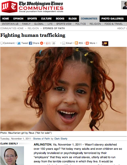 The Washington Times Featured A Story On Not For Sale November 1 2011 The Beautiful Country Human Beauty