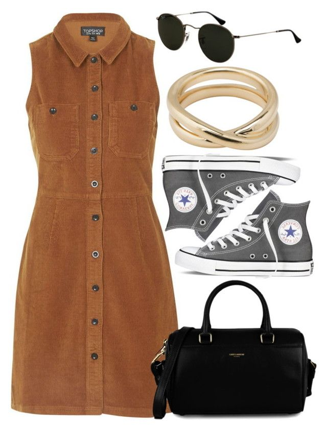 """Untitled #4136"" by style-by-rachel ❤ liked on Polyvore featuring Topshop, Yves Saint Laurent, Converse, Ray-Ban and Tiffany & Co."