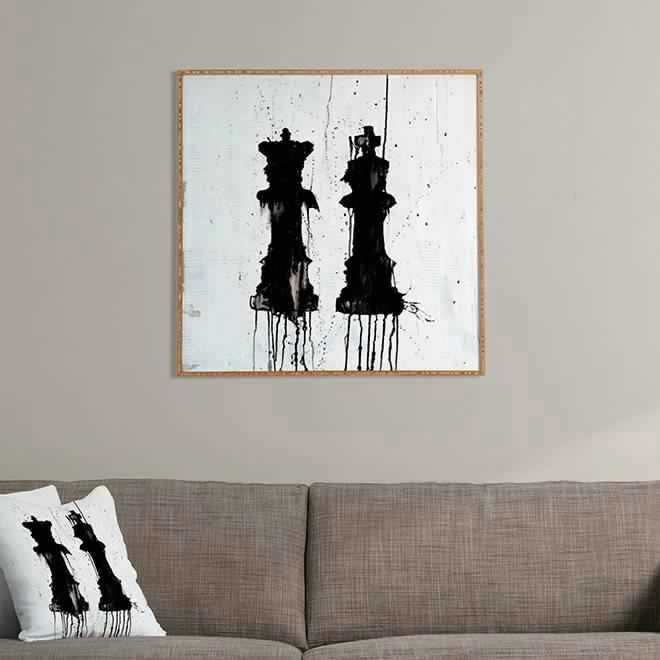 What a perfect King and Queen painting. Would be great for a newlywed couple