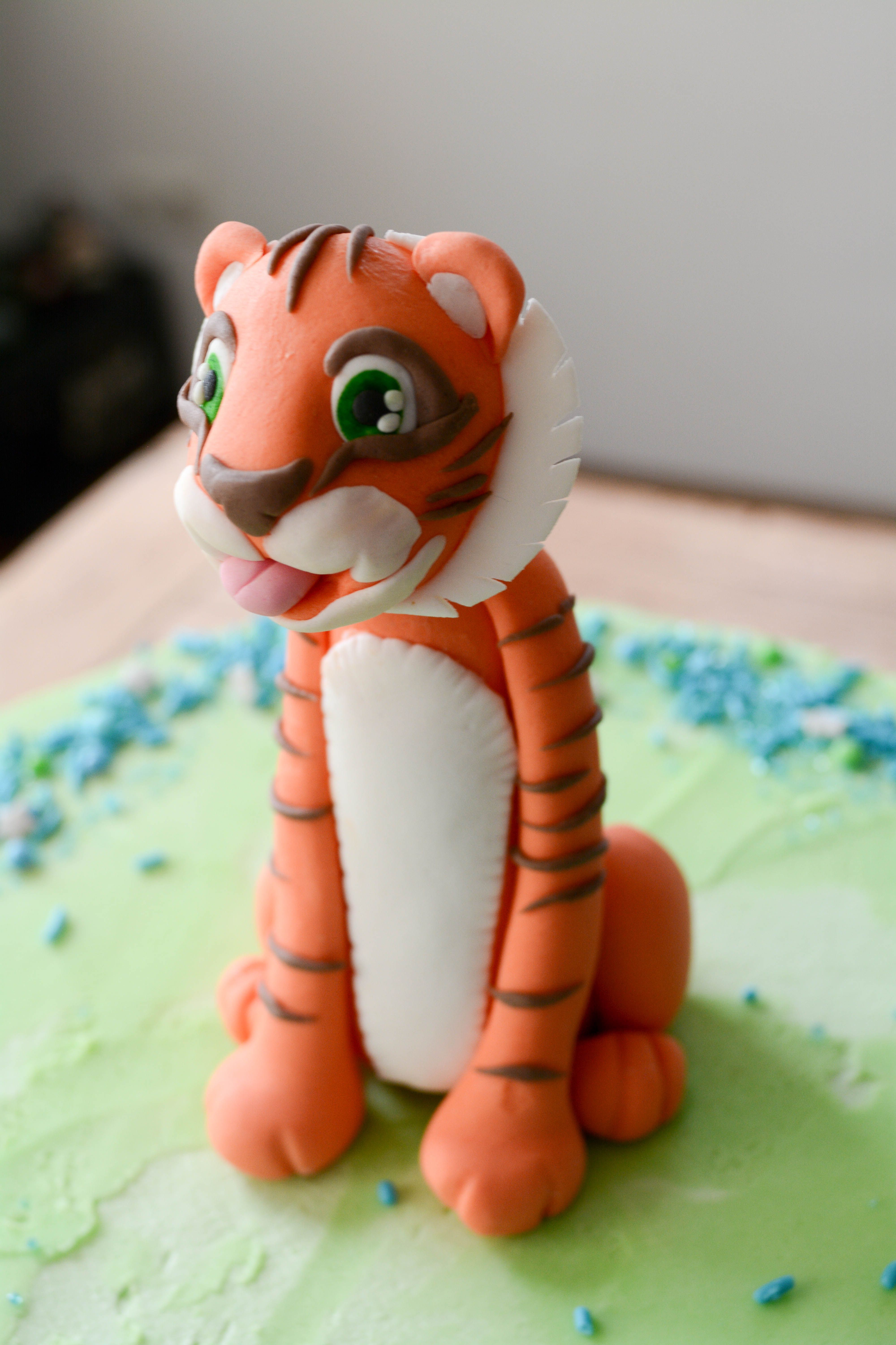 Goofy Tiger Cake Topper Handmade 3d Fondant Made By Noras