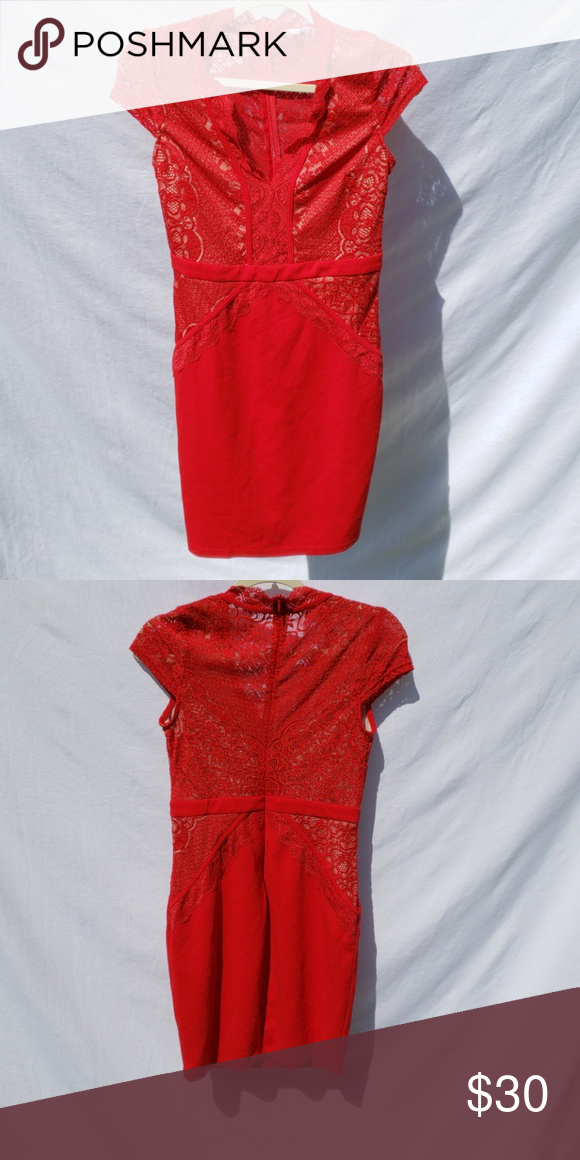 006bf68ff4a M Agaci red lace bodycon Gently used lacey red bodycon dress from Agaci in  the size