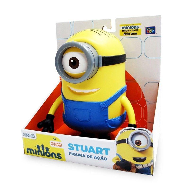 Boneco Minions - Stuart - Toyng #brinquedo
