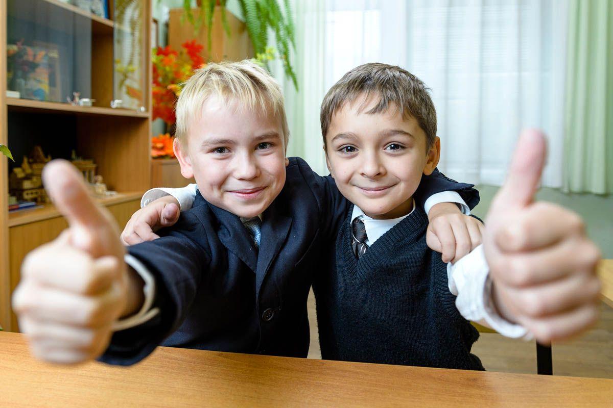 Групповые портреты друзей, сделанные в школе ...