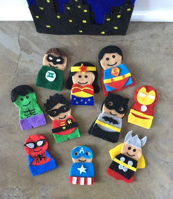 AVENGERS  Children/'s Finger Puppet Set