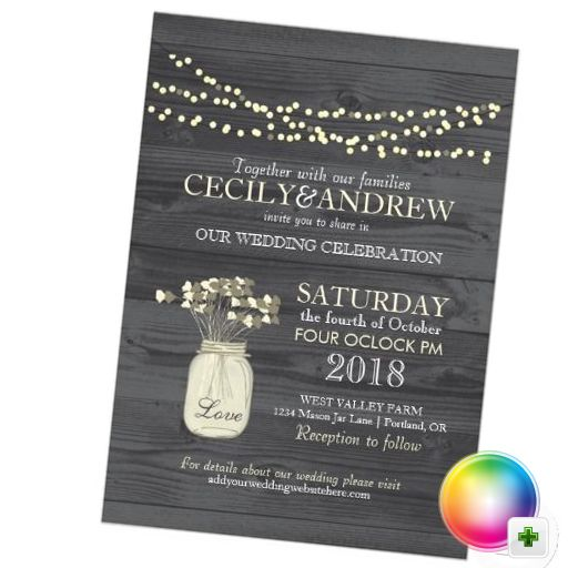 Wedding Invitation Website: Mason-jar-and-light-strings-wedding-invitation.jpg 512×512