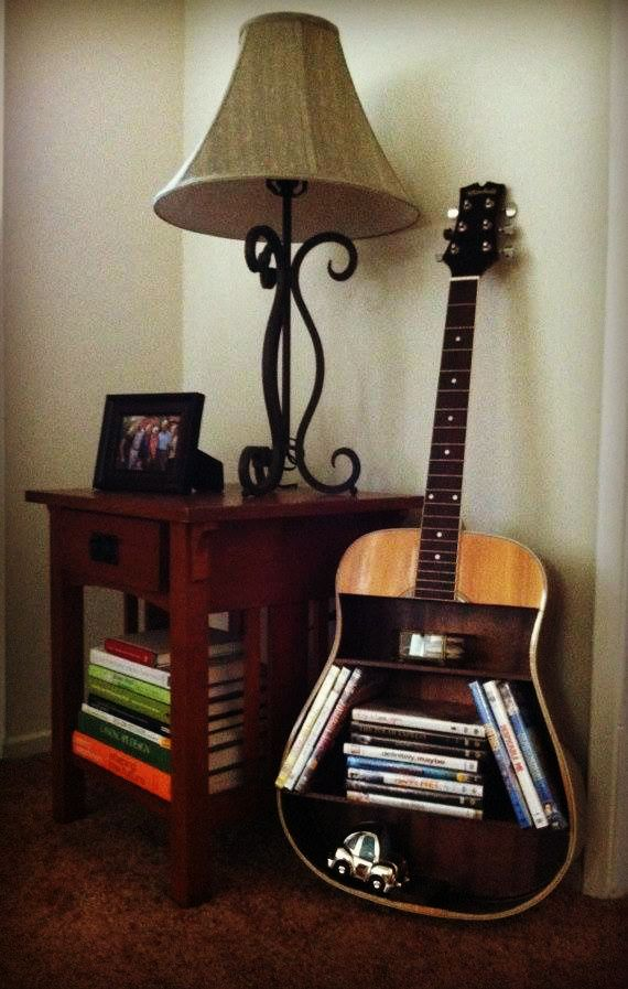 creative recycled guitar without music life is a mistake in 2019 guitar shelf music. Black Bedroom Furniture Sets. Home Design Ideas