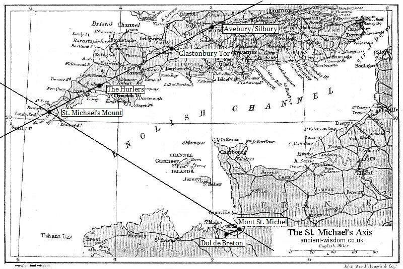 The St Michael S Axis Ley Lines Earth Grid St Michael S Mount