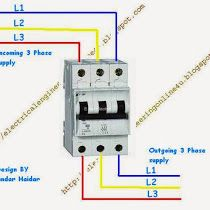 rcd mcb wiring diagram a complete diagram of single phase distribution board with ... #9