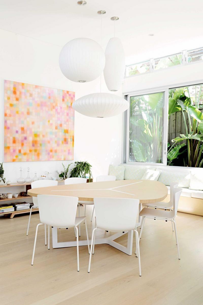 Room Design Program: White-dining-area-lantern-lights-artwork-nov14