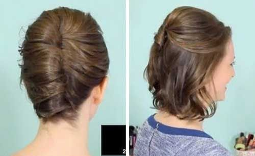 30 einfache Frisuren für kurzes Haar | Mittellange haare ...