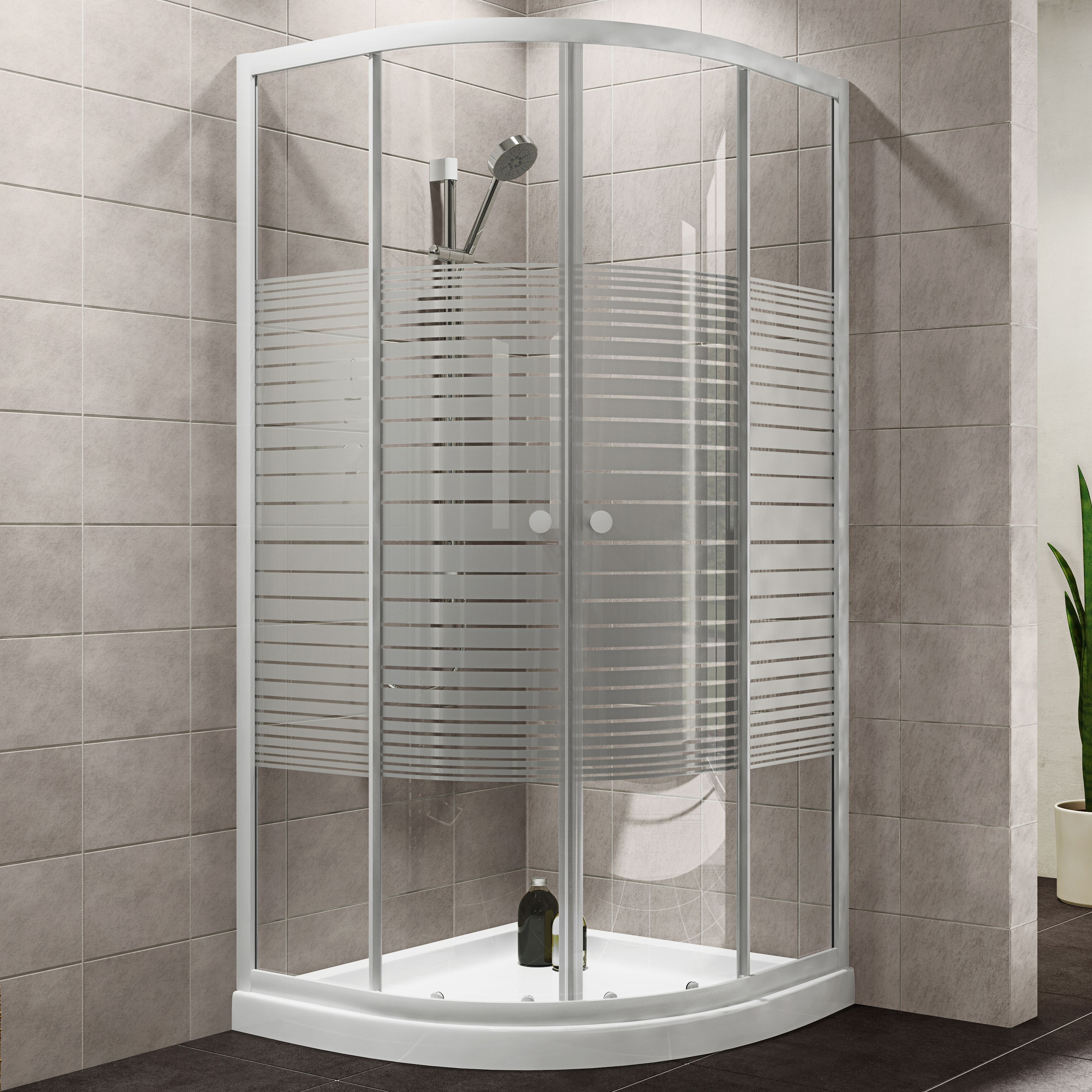 Plumbsure Quadrant Shower Enclosure, Tray & Waste Pack with Double ...