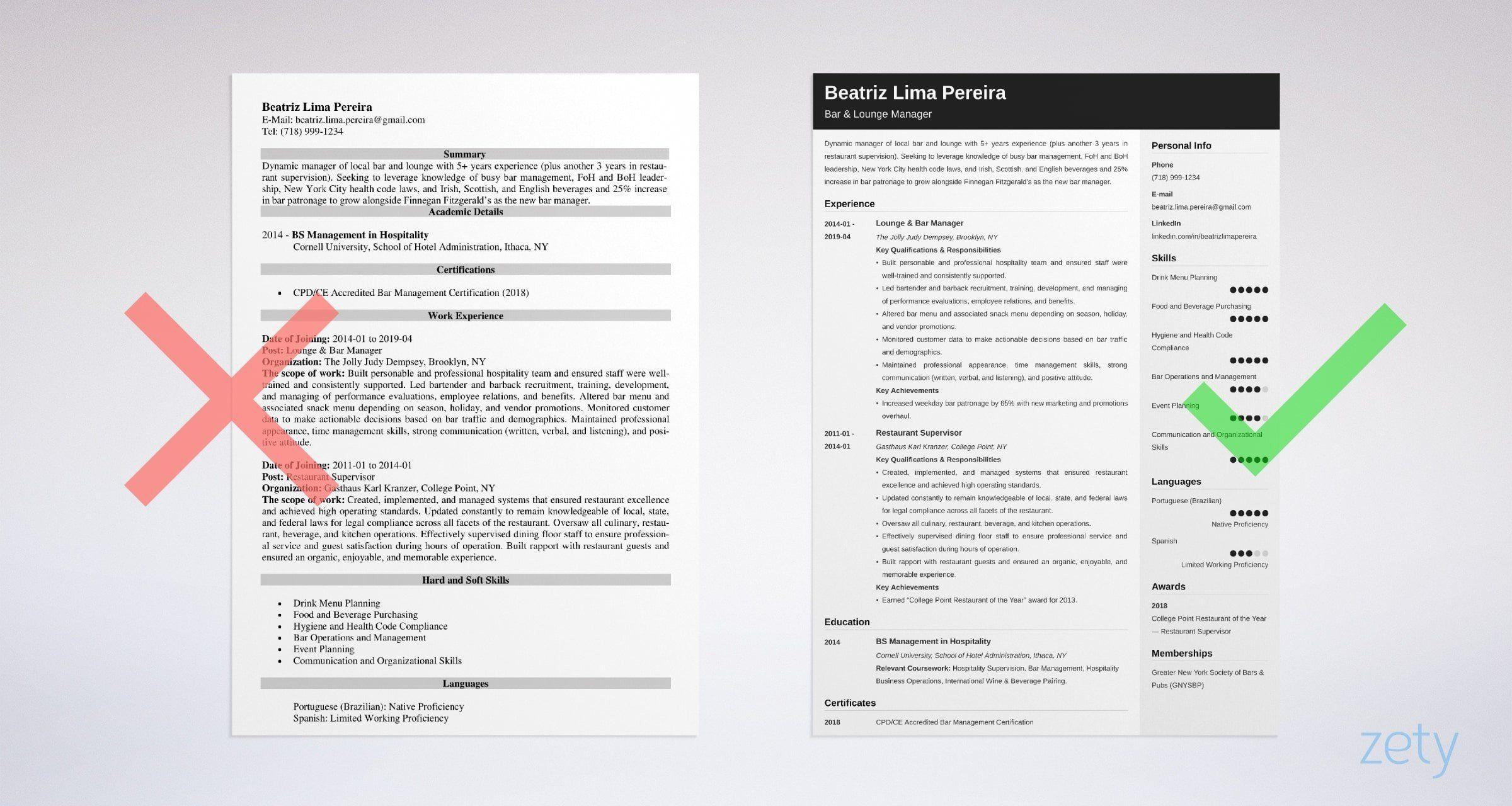 Bar manager resume sample complete guide 20 tips