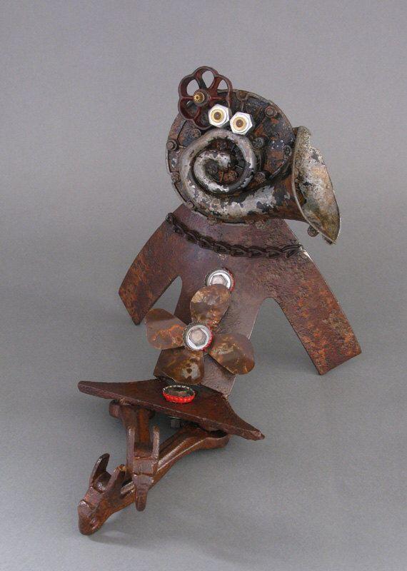 ROBOT SCULPTURE - Metal art robot Metal art sculpture - Lena the Lounge Singer by CastOfCharacters23 on Etsy https://www.etsy.com/listing/113528481/robot-sculpture-metal-art-robot-metal