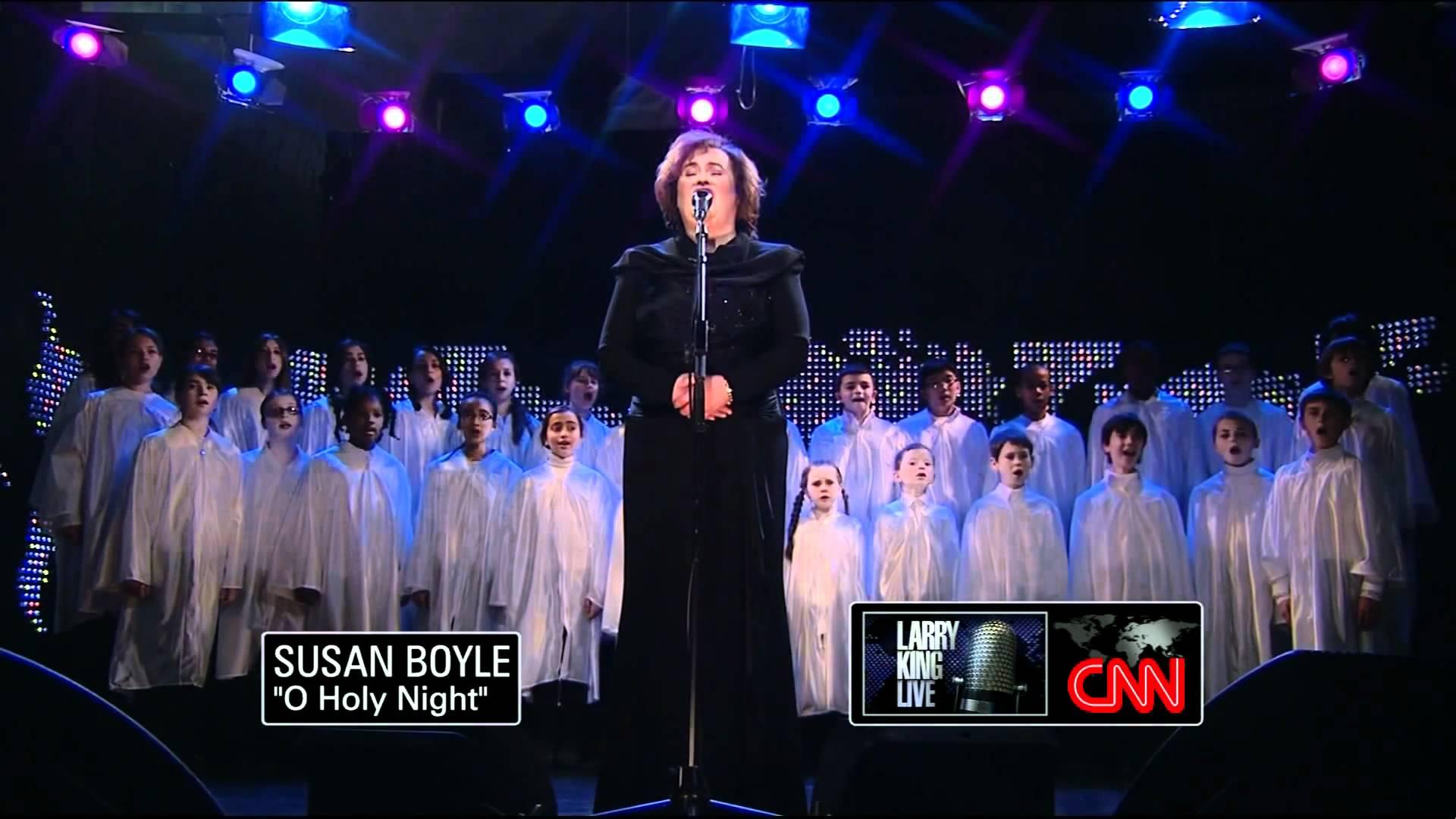 Susan Boyle - O Holy Night - Larry King LIve - December 2010