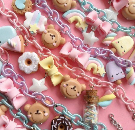 Decoden, kawaii, pretend food, sweets, decoration, style, realistic, pastel, colourful, accessories