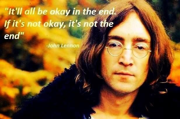 If it's not okay, it's not the end!