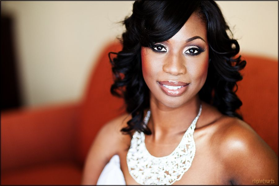 Gorgeous Wedding Make Up For African American/Black Brides. Bridal Beauty For Medium To Dark ...