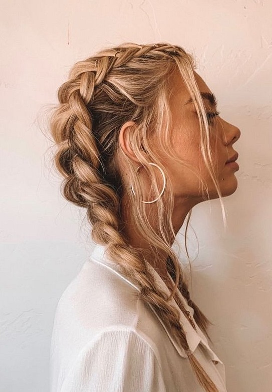 38 Hairstyle And Outfits Combination Makes You Wonderful Molitsy Blog Messy Hairstyles Hair Braided Hairstyles