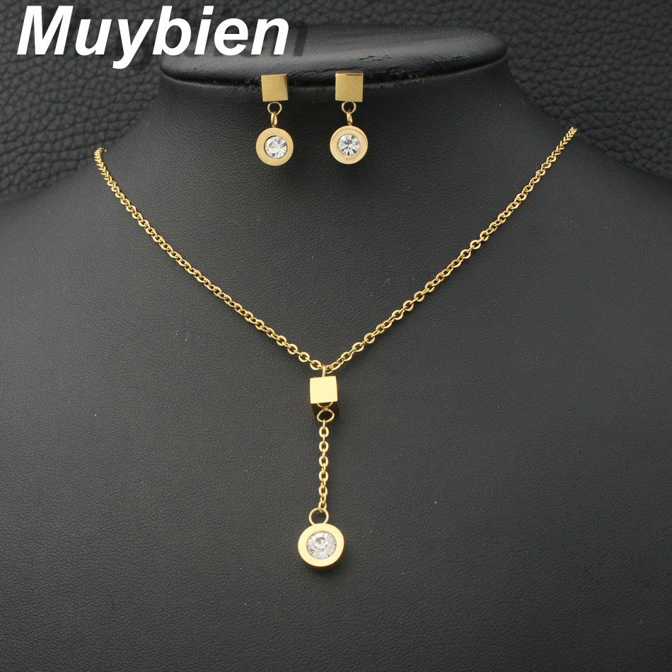 Jewelry stainless steel jewelry pendant and earrings sets for women