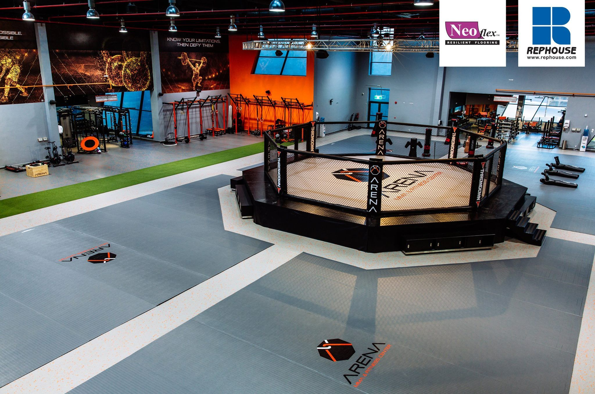 Neoflex series bfc rubber fitness flooring arena
