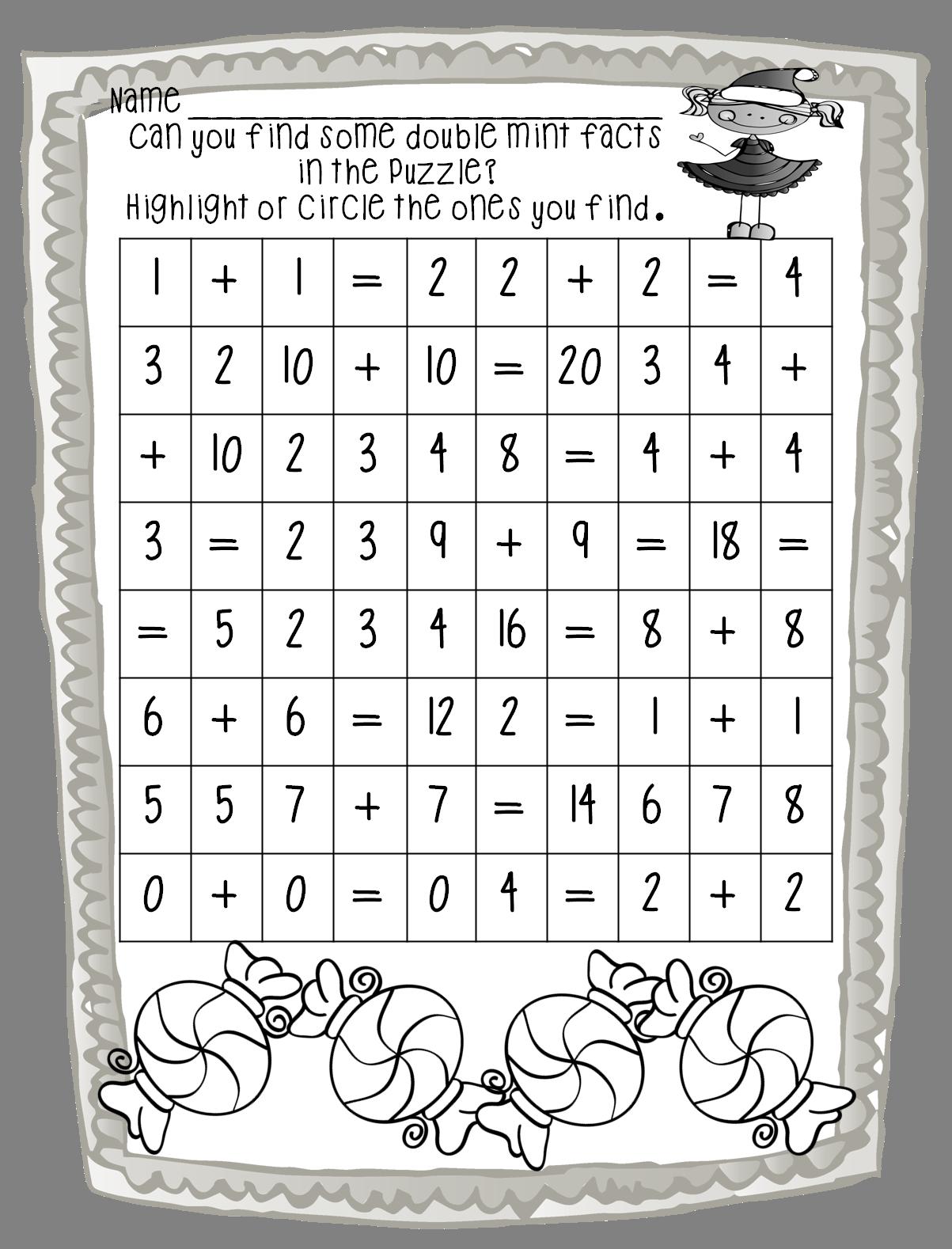 medium resolution of First Grade Wow: Double Mint Math   First grade math