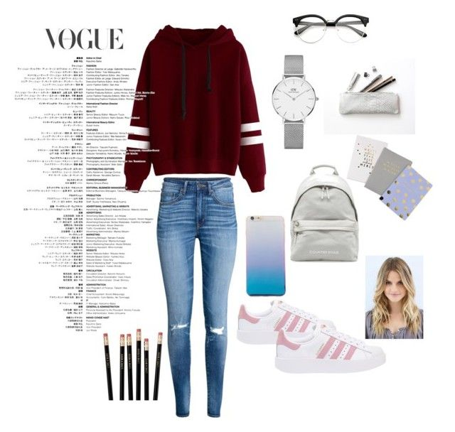 """""""I am not wether correct or not😜😜"""" by jaayshini31 on Polyvore featuring adidas Originals and Daniel Wellington"""