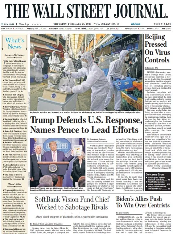 Wall Street Journal 27 February 2020 Wall Street Journal Wall Street Journal