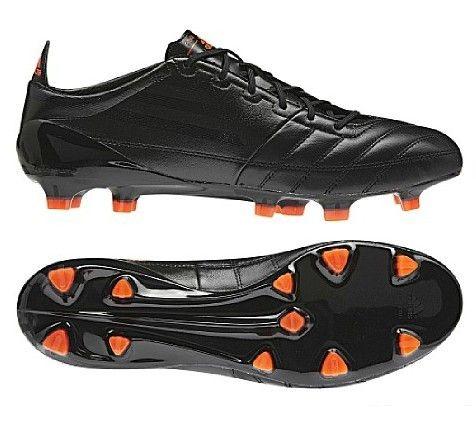 adidas f50 adizero trx fg leather firm ground mens soccer cleats(black black infrared)