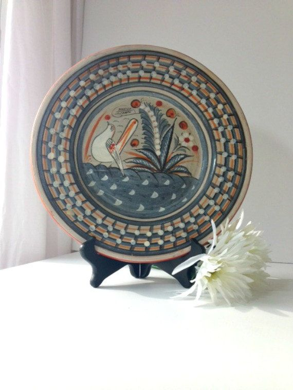 Handmade Vintage Mexican Clay Wall Hanging By Encorevintagedecor 30 00