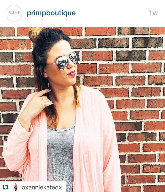 Pink Cardigan $46. Regram. @ Primp Boutique