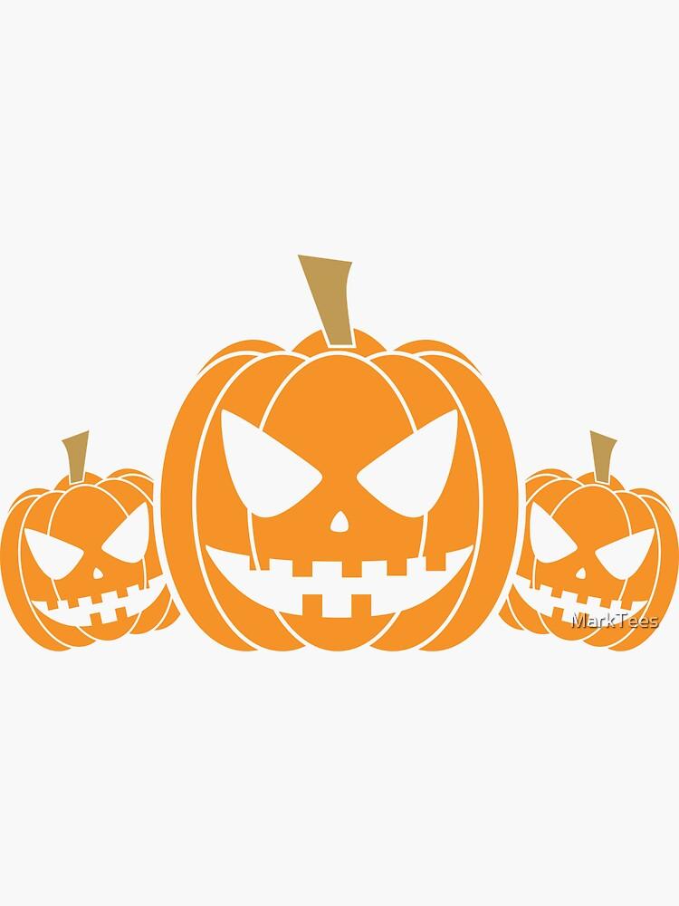 Scary Pumpkins Sticker By Marktees Scary Pumpkin Pumpkin Stickers Cricut Halloween