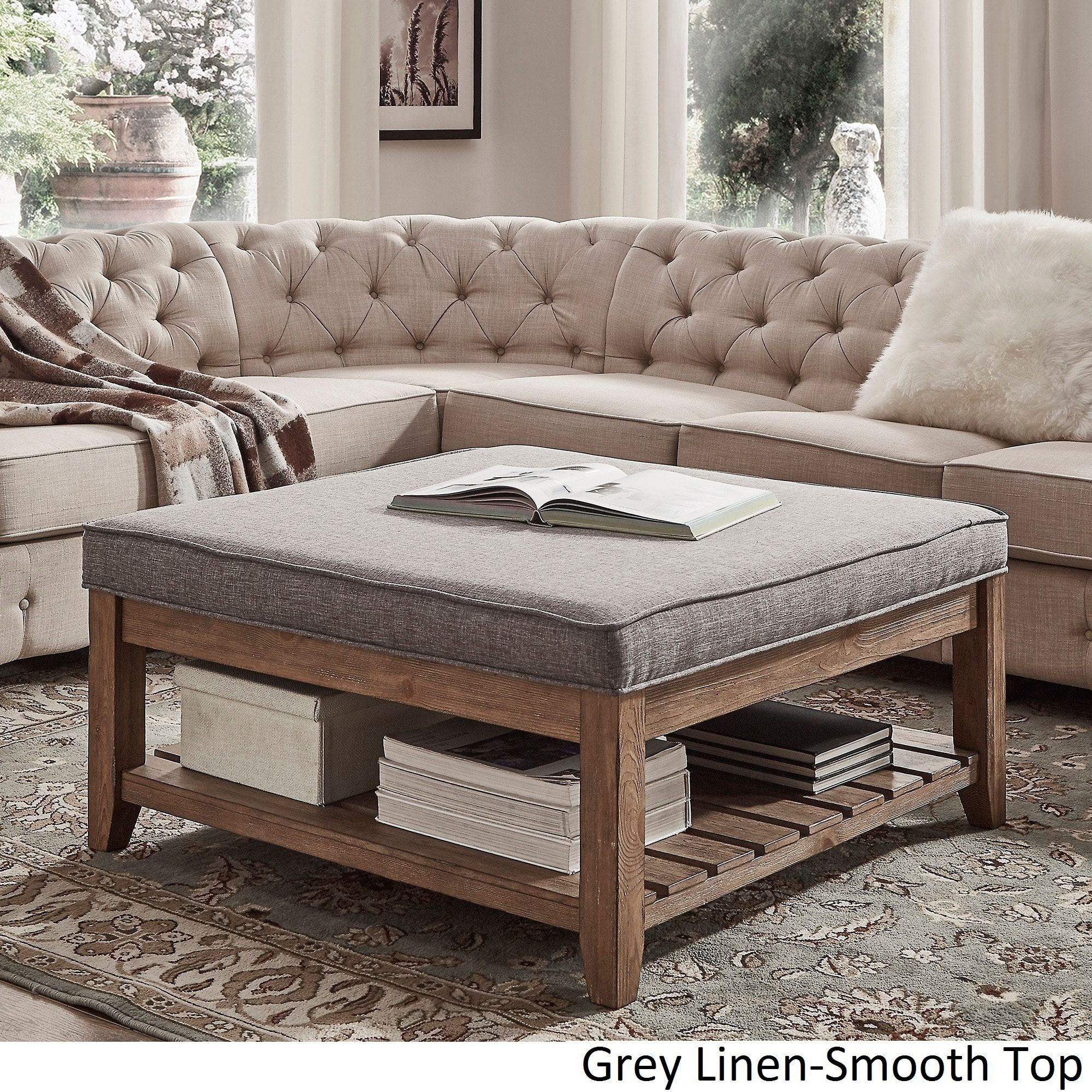 Astounding Lennon Pine Planked Storage Ottoman Coffee Table By Inspire Caraccident5 Cool Chair Designs And Ideas Caraccident5Info
