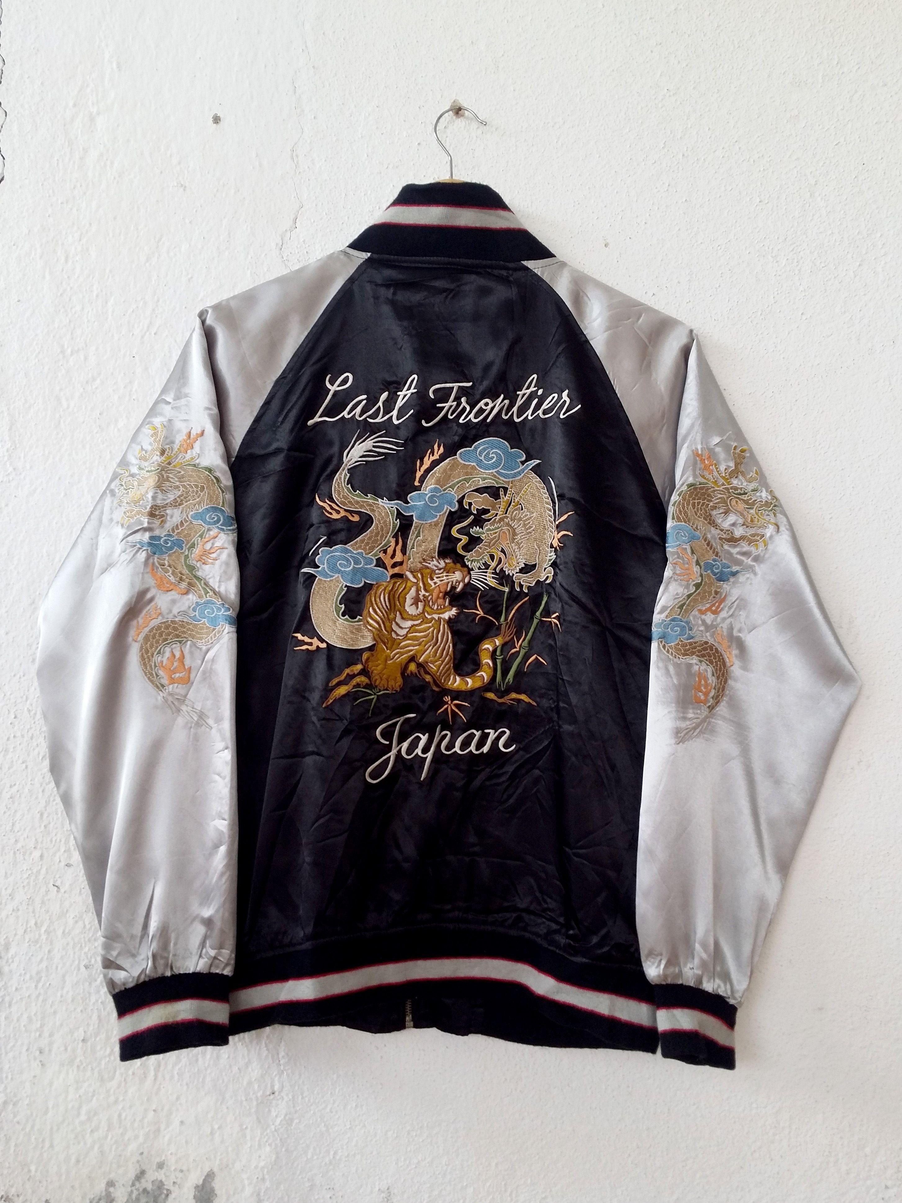 Bomber NEW Sukajan Dragon Tiger Embroidery Japan Souvenir Jacket Various Size
